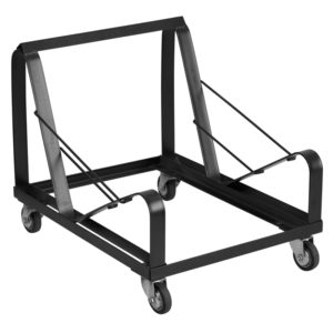 Wholesale HERCULES Series Black Steel Sled Base Stack Chair Dolly