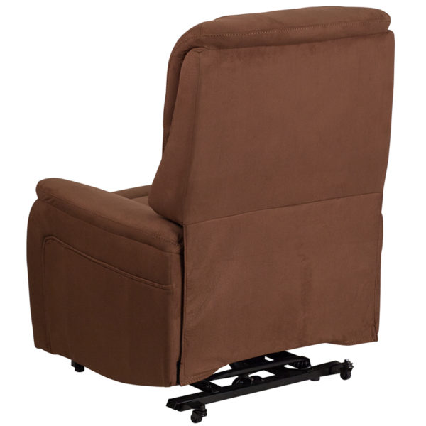 Contemporary Style Brown Microfiber Lift Recliner