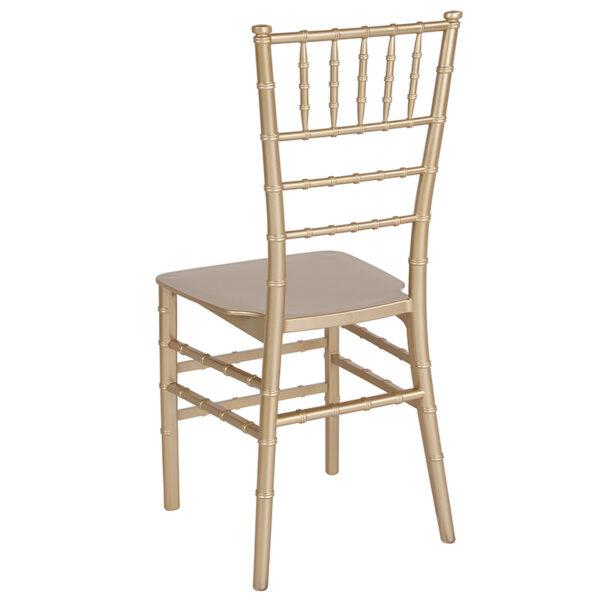 Chiavari Seating Gold Resin Chiavari Chair