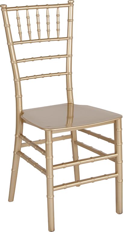 Wholesale HERCULES Series Gold Resin Stacking Chiavari Chair