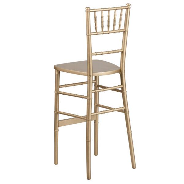 Chiavari Seating Gold Wood Chiavari Barstool