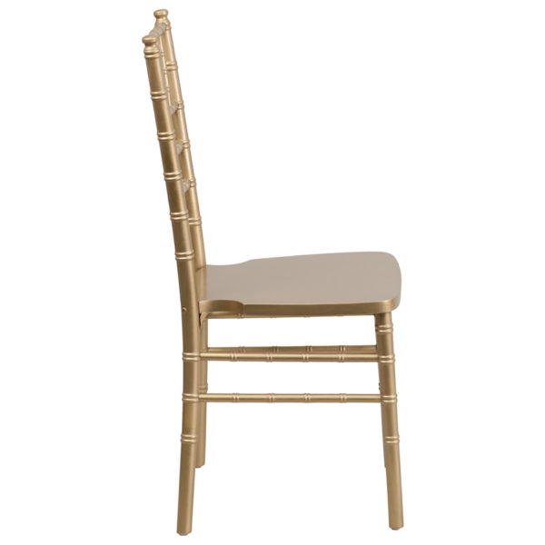 Lowest Price HERCULES Series Gold Wood Chiavari Chair