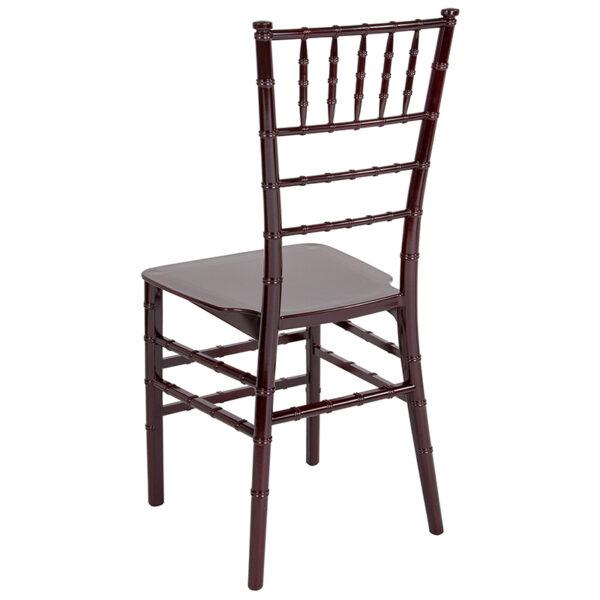 Chiavari Seating Mahogany Resin Chiavari Chair