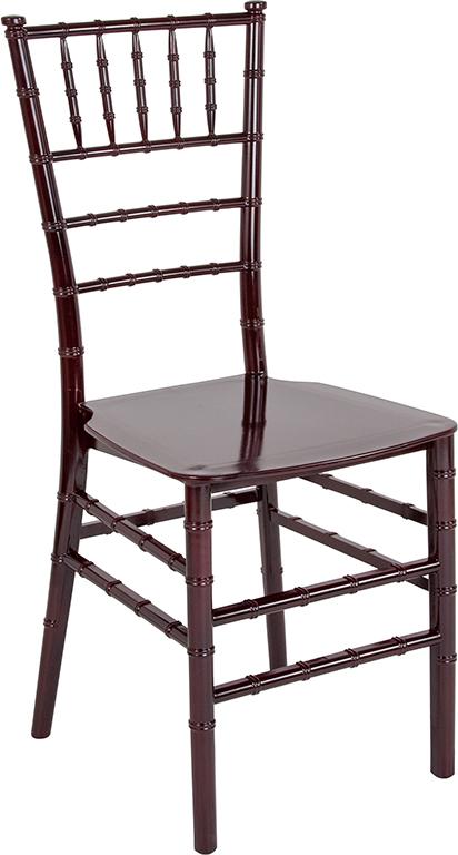 Wholesale HERCULES Series Mahogany Resin Stacking Chiavari Chair