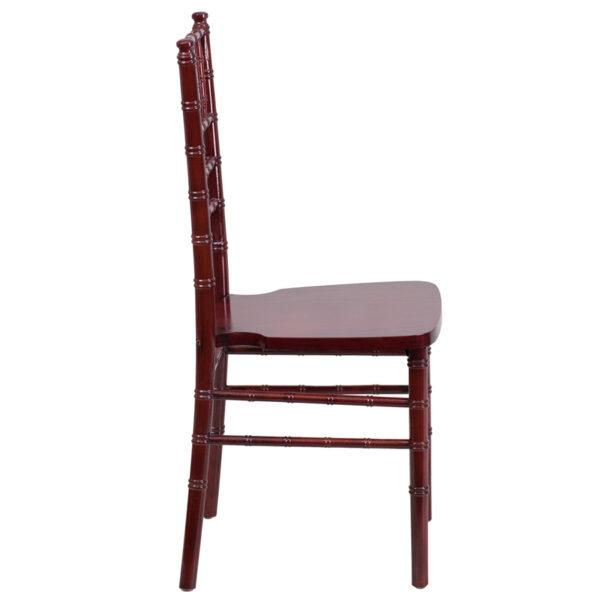 Lowest Price HERCULES Series Mahogany Wood Chiavari Chair