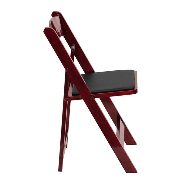 Wood Folding Chair Mahogany Wood Folding Chair