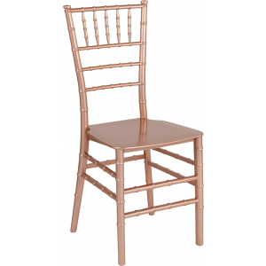 Wholesale HERCULES Series Rose Gold Resin Stacking Chiavari Chair