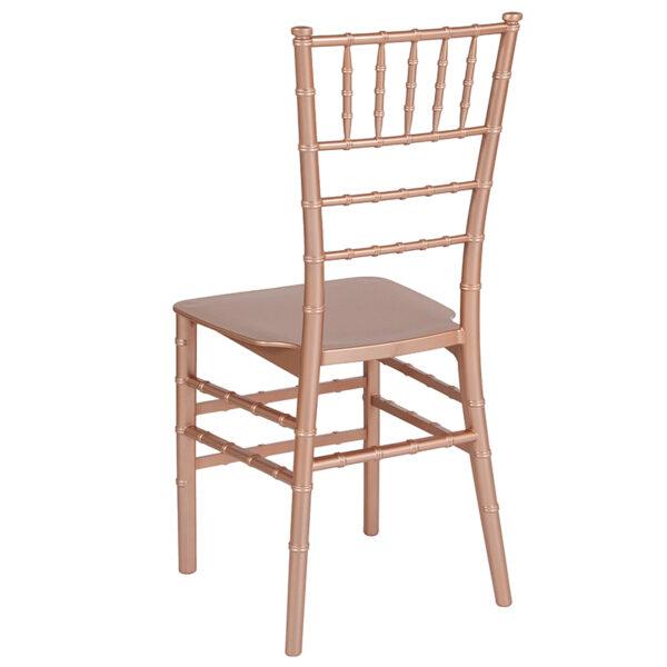 Chiavari Seating Rose Gold Resin Chiavari Chair