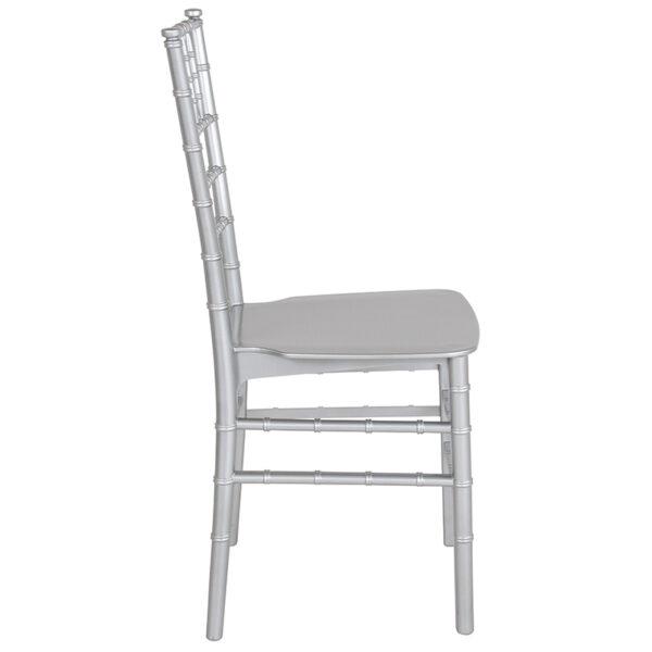 Lowest Price HERCULES Series Silver Resin Stacking Chiavari Chair