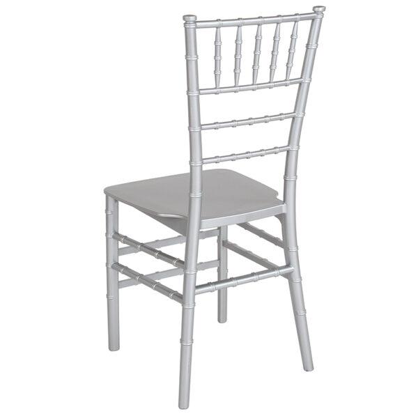 Chiavari Seating Silver Resin Chiavari Chair