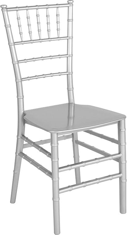 Wholesale HERCULES Series Silver Resin Stacking Chiavari Chair