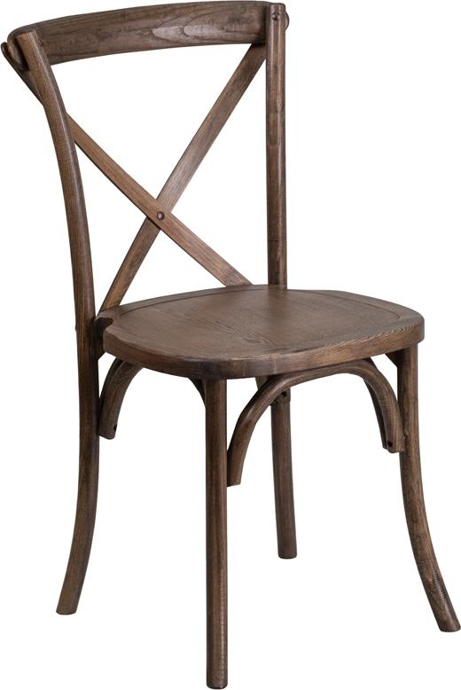Wholesale HERCULES Series Stackable Early American Wood Cross Back Chair