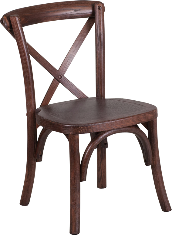 Wholesale HERCULES Series Stackable Kids Mahogany Wood Cross Back Chair