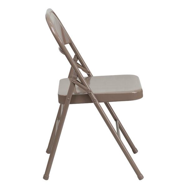 Metal Folding Chair Beige Metal Folding Chair