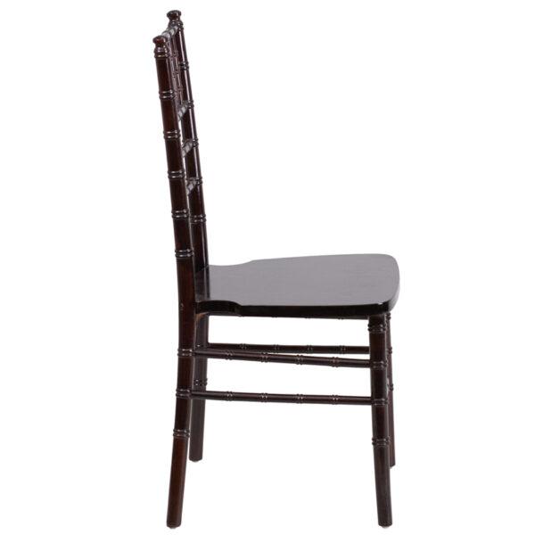Lowest Price HERCULES Series Walnut Wood Chiavari Chair