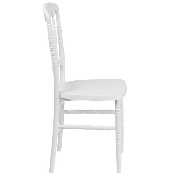 Lowest Price HERCULES Series White Resin Stacking Napoleon Chair