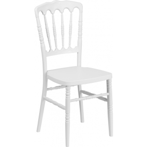 Wholesale HERCULES Series White Resin Stacking Napoleon Chair