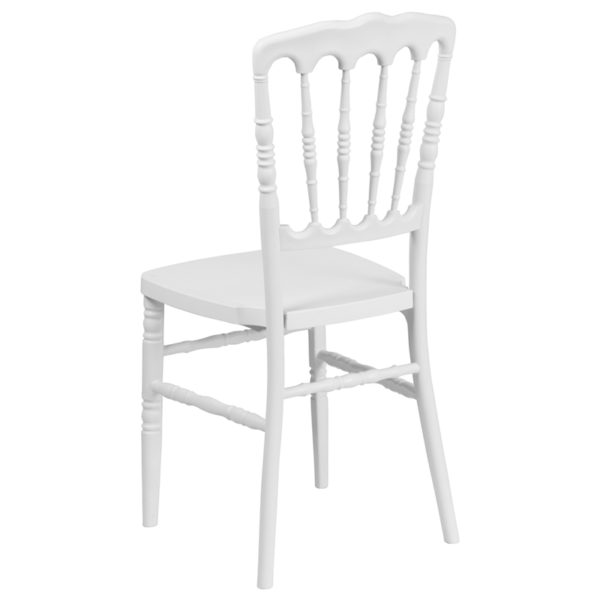Chiavari Seating White Resin Napoleon Chair