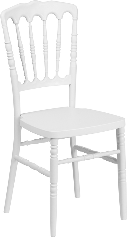 Wholesale HERCULES Series White Resin Stacking Napoleon Chair