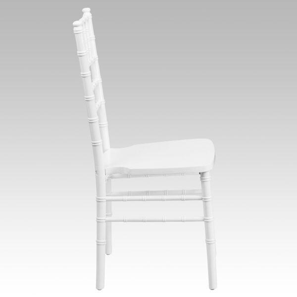 Lowest Price HERCULES Series White Wood Chiavari Chair