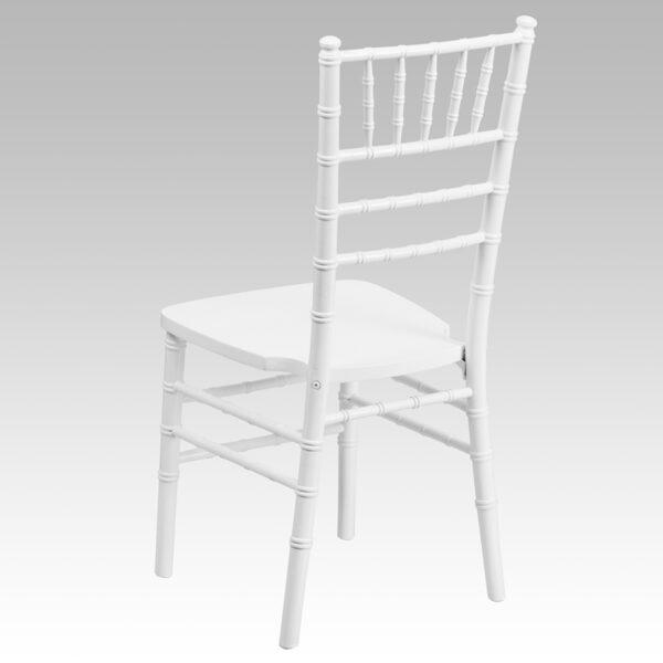 Chiavari Seating White Wood Chiavari Chair