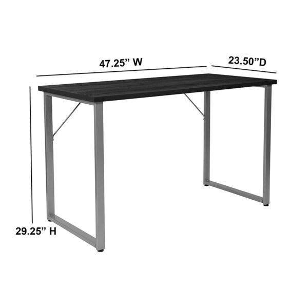 Contemporary Style Black Computer Desk