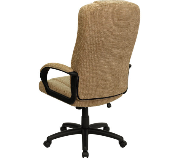 Contemporary Office Chair Beige High Back Fabric Chair