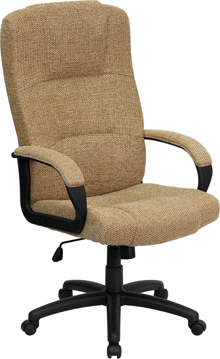 Wholesale High Back Beige Fabric Executive Swivel Office Chair with Arms