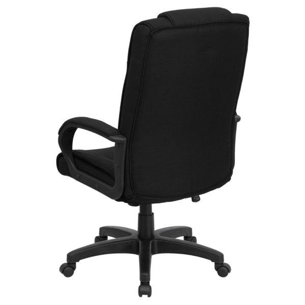 Contemporary Office Chair Black High Back Fabric Chair