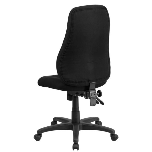 Contemporary Task Office Chair Black High Back Task Chair