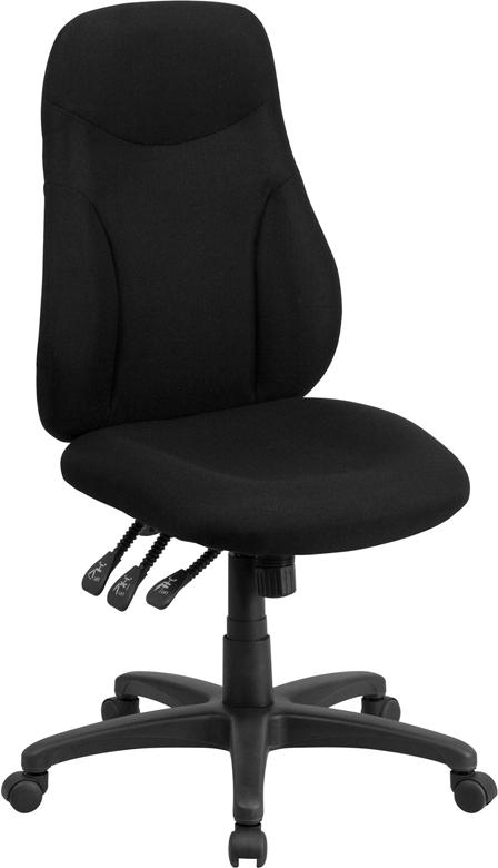 Wholesale High Back Black Fabric Multifunction Swivel Ergonomic Task Office Chair
