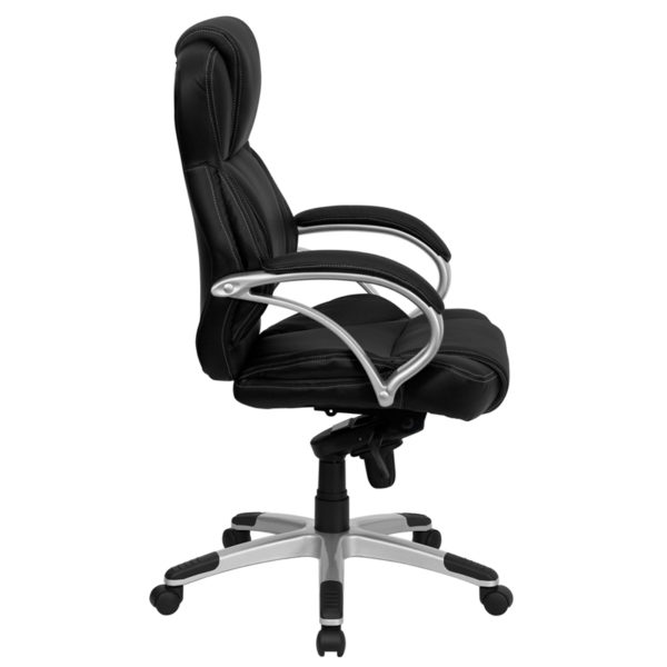 Lowest Price High Back Black Leather Contemporary Executive Swivel Ergonomic Office Chair