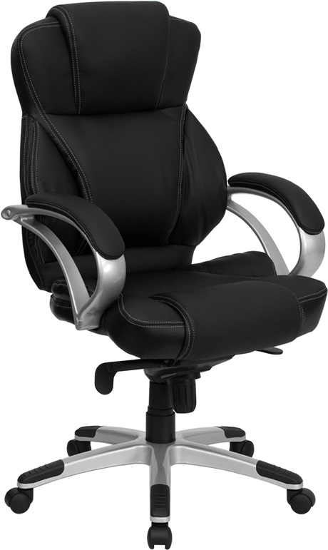 Wholesale High Back Black Leather Contemporary Executive Swivel Ergonomic Office Chair