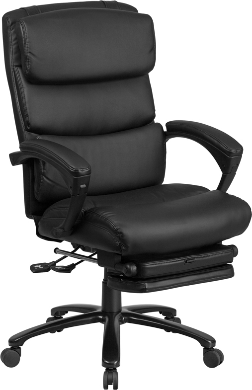 Wholesale High Back Black Leather Executive Reclining Ergonomic Office Chair with Adjustable Headrest