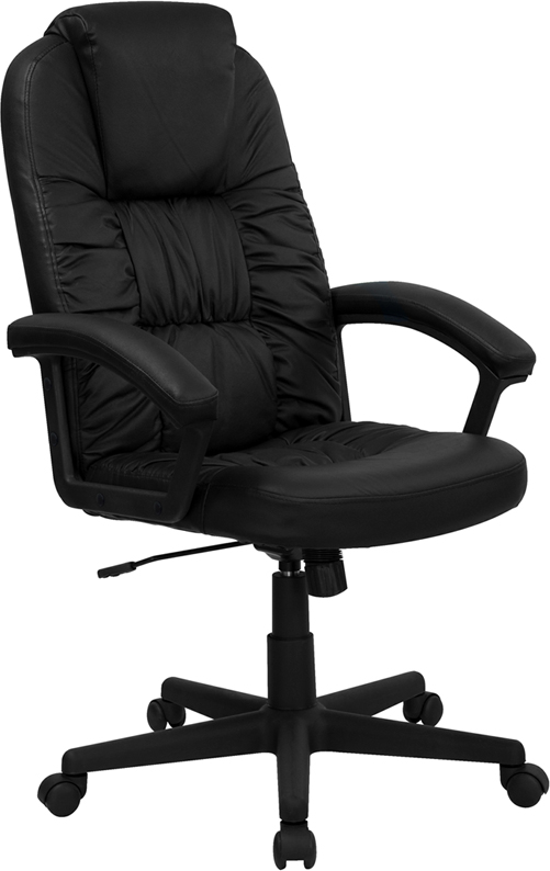 Wholesale High Back Black Leather Executive Swivel Office Chair with Arms