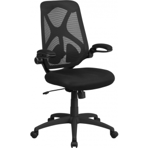 Wholesale High Back Black Mesh Executive Swivel Ergonomic Office Chair with Adjustable Lumbar