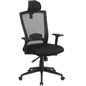 Wholesale High Back Black Mesh Executive Swivel Ergonomic Office Chair with Back Angle Adjustment and Adjustable Arms