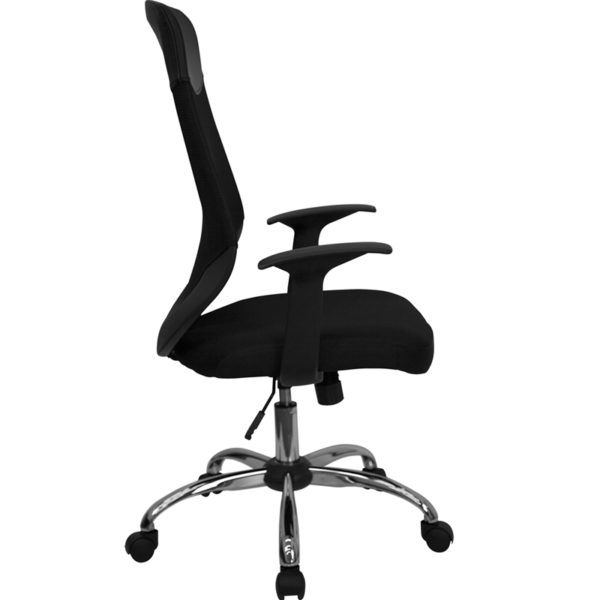 Lowest Price High Back Black Mesh Executive Swivel Office Chair with Arms