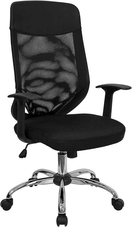 Wholesale High Back Black Mesh Executive Swivel Office Chair with Arms