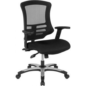 Wholesale High Back Black Mesh Multifunction Executive Swivel Ergonomic Office Chair with Molded Foam Seat and Adjustable Arms