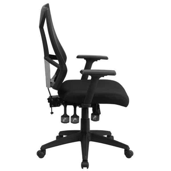 Lowest Price High Back Black Mesh Multifunction Swivel Ergonomic Task Office Chair with Adjustable Arms