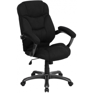 Wholesale High Back Black Microfiber Contemporary Executive Swivel Ergonomic Office Chair with Arms