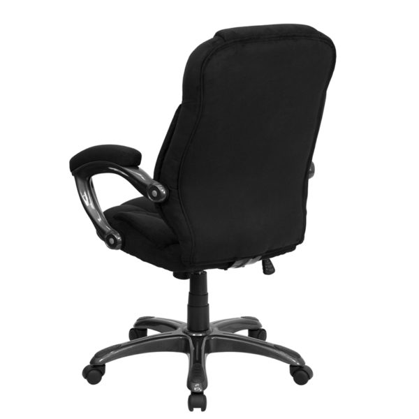 Contemporary Office Chair Black High Back Chair