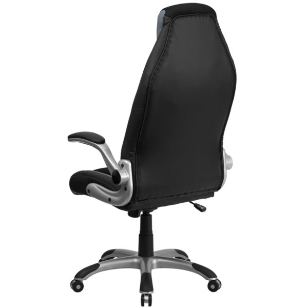 Contemporary Office Chair Black/Gray High Back Chair