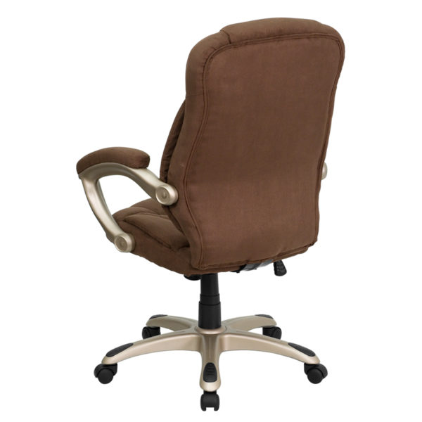 Contemporary Office Chair Brown High Back Chair