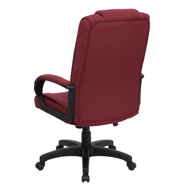Contemporary Office Chair Burgundy High Back Chair