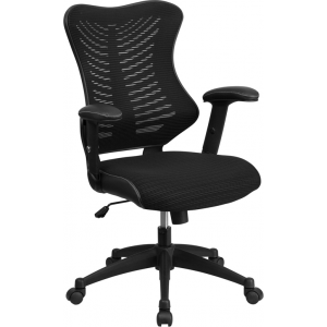 Wholesale High Back Designer Black Mesh Executive Swivel Ergonomic Office Chair with Adjustable Arms