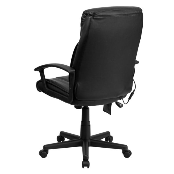 Contemporary Office Chair Black High Back Massage Chair