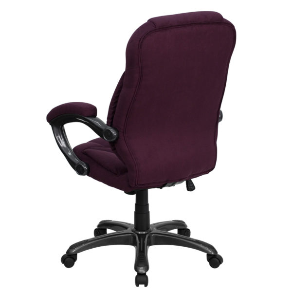 Contemporary Office Chair Grape High Back Chair