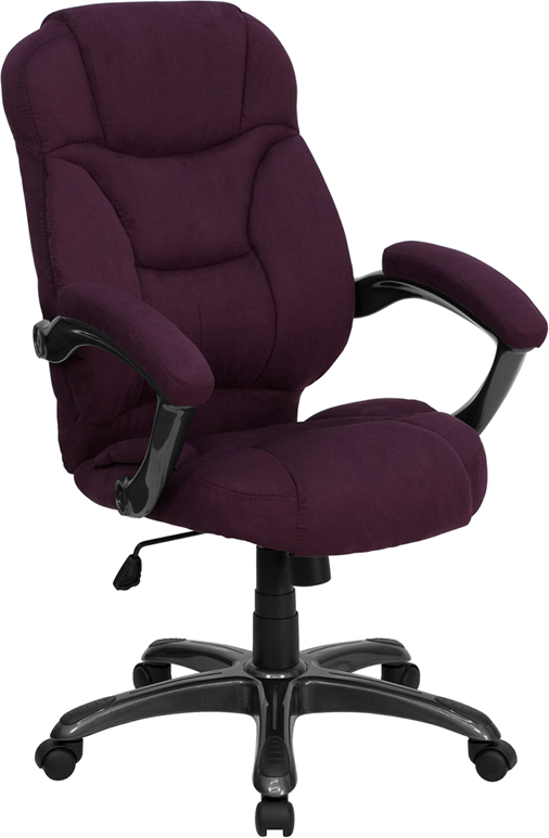 Wholesale High Back Grape Microfiber Contemporary Executive Swivel Ergonomic Office Chair with Arms